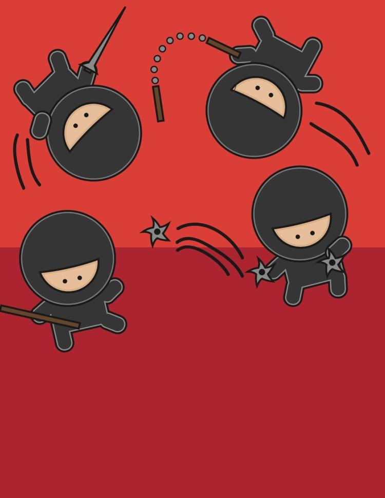 Ninjas by Mallory
